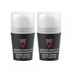 Vichy Homme Déodorant Anti-Transpirant 48H Peaux Sensibles - Bille - DUO 3433425000657