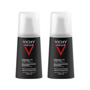 Vichy Homme Déodorant 24H Ultra-Frais - Vaporisateur - DUO 3433425000664