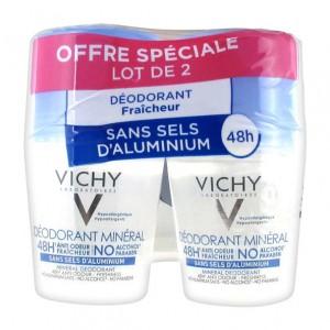 Vichy Déodorant Minéral - Sans Sel d'Aluminium - DUO 3433425202792
