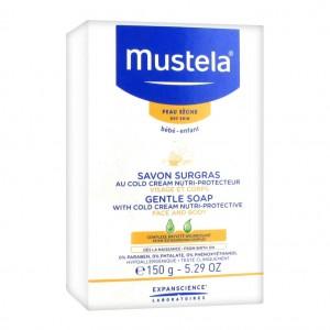 Mustela Savon surgras au Cold Cream Nutri-Protecteur - 150gr Peau sèche Bébé et enfant Visage et corps Dès la naissance Hypoallergénique 3504105024567