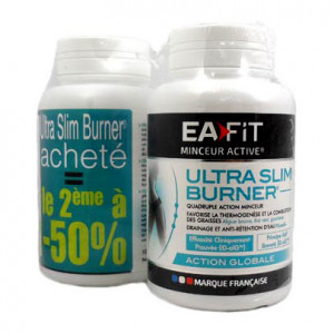 EA Fit Ultra Slim Burner - DUO Le 2 ème à -50% 2 x 120 gélules Quadruple action minceur Action globale Programme 30 jours 3518681006176
