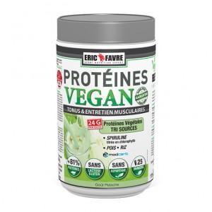 Eric Favre Protéines Vegan - Goût Pistache - 750g Protéines Végétales Tri-sources : spiruline titré en chlorophylle, riz, petit pois 3525722019170