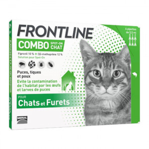 Frontline Combo Spot-On - Chat & Furets - 6 Pipettes 3661103006022