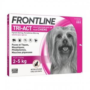 Frontline Tri-Act Chiens XS 2-5 kg x 3 3661103046790