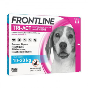 Frontline Tri-Act Chiens M 10-20 kg x 3 pipettes 3661103046813