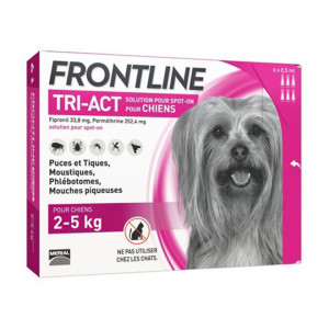 Frontline Tri-Act Chiens XS 2-5 kg x 6pipettes 3661103046844