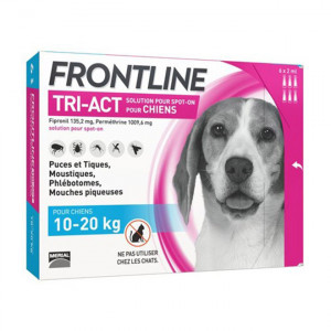 Frontline Tri-Act Chiens M 10-20 kg x 6 3661103046868