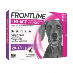 Frontline Tri-Act Chiens L 20-40 kg x 6 pipettes 3661103046875