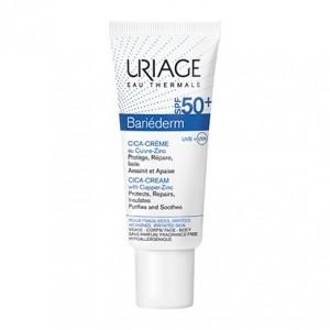 Uriage Bariéderm SPF50+ - CICA-Crème Réparatrice au Cu-Zn - 40 ml 3661434006548