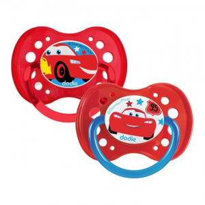"Dodie 2 Sucettes Anatomiques Silicone 18+  ""Disney Cars"" 3700763503233"
