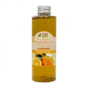 MKL Geen Nature Savon Liquide de Marseille à l'Huile d'Argan - Parfum Orange Miel - 100 ml 3760162120578