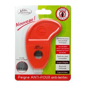 Aquaromat Peigne Anti-Poux Anti-Lentes 100% efficace Dents en acier inoxydable Loupe intégrée 3760235950989
