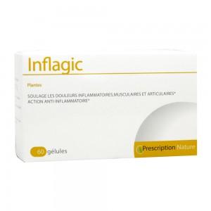 PharmaNature Inflagic - 60 Gélules Plantes Douleurs inflammatoires, musculaires et articulaires 3770002638019