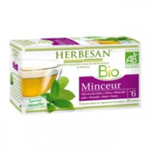 Herbesan Infusion BIO N°6 - Minceur Saveur Menthe 20 Sachets
