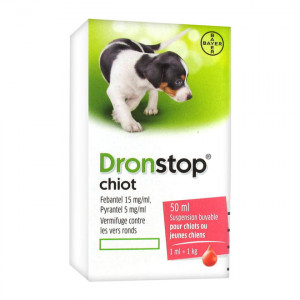 Drontal Dronstop - Solution Buvable - Chiot - 50 ml 4007221024781