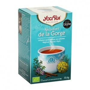 Yogi Tea Réconfort de la Gorge - 17 Sachets Tisane ayurvédique Une gorge douce pour une voix claire 4012824401402