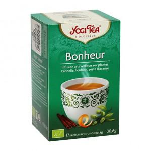 Yogi Tea Bonheur - 17 Sachets Tisane ayurvédique Retrouver équilibre et harmonie L'infusion Bonheur est une recette de... 4012824401471