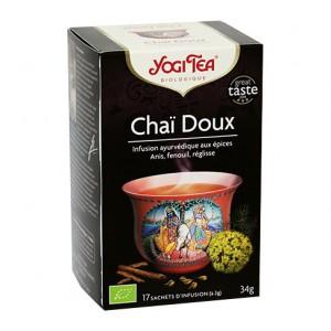 Yogi Tea Chaï Doux - 17 Sachets Infusion Doux et sans théïne 4012824402638