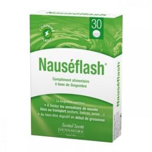 Suvéal Santé Nauséflash 20 comprimés A base de gingembre Limite les sensations de nausée liées au transport Idéal en début de grossesse