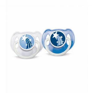 2 Sucettes Orthodontiques Silicone Nuit 6+ mois