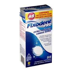 Fixodent Pro Comprimés Nettoyants Pour Prothèse Dentaire - 88 Comprimés Extra fraîcheur Longue durée 5011321680227