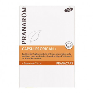 Pranarom Pranacaps - Capsules Origan + BIO - 30 Capsules 5420008524257