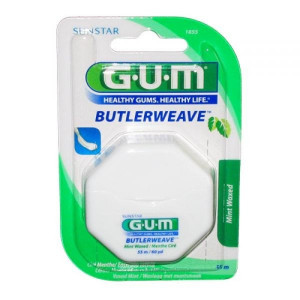 Fil Dentaire Ciré Menthe Gum Butlerweave 55m. (Ref 1855)