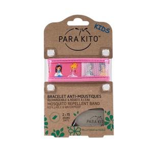 Parakito Bracelet Enfant Princesses Rechargeable Anti-Moustiques avec 2 Recharges 8594179653232