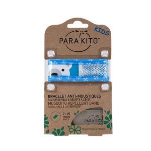 Parakito Bracelet Enfant Polar Bear Rechargeable Anti-Moustiques avec 2 Recharges 8594179653249