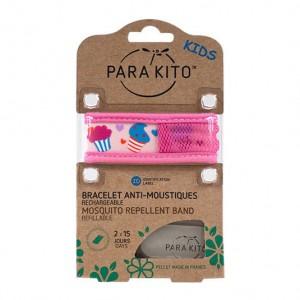 Parakito Bracelet Enfant Cupcakes Rechargeable Anti-Moustiques avec 2 Recharges 8594179653324