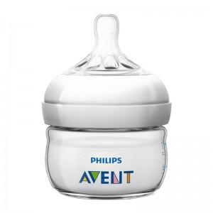 Avent Biberon Natural - 60 ml Natural 1 mois + Verre pur et résistant Nouveau système anti-coliques perfectionné 0% BPA 8710103738688