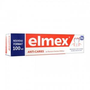 Elmex Anti-Caries - Dentifrice - 100 ml Au fluorure d'amines Olafluor Reminéralise et aide à protéger contre les caries 8714789940786