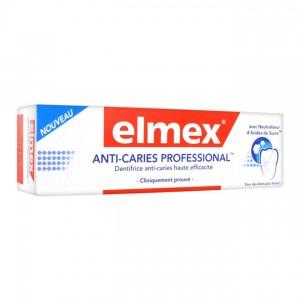 Elmex Anti-Caries Professional - Dentifrice - 75 ml Dentifrice anti-caries haute efficacité Pour des dents plus fortes Avec neutraliseur d'Acides de Sucre 8718951031241