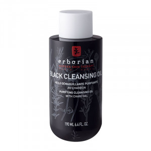 Erborian Black Cleansing Oil - 190 ml Huile démaquillante purifiante au charbon 8809255782400