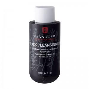 Erborian Black Cleansing Oil - 190 ml Huile démaquillante purifiante au charbon 8809255782400