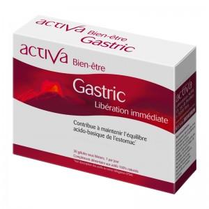 Activa Bien-Être - Gastric - 30 Gélules Libération immédiate Contribue à maintenir l'équilibre acido-basique de l'estomac Actifs 100% naturels