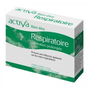 Activa Bien-Être - Respiratoire - 30 Gélules Libération prolongée Procure une influence apaisante sur les voies respiratoires Aux actifs 100% naturels