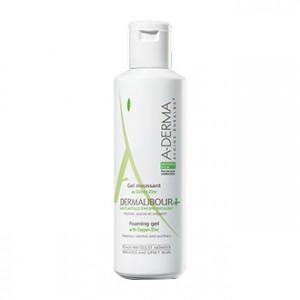 aderma dermalibour + gel moussant 125 ml visage et corps nettoie, apaise et assainit les peaux irritées et abîmées hyperpara