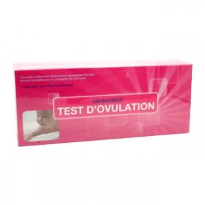 Ageti Sérénitest Test d'Ovulation 7 Tests qui vous aide à déterminer facilement et naturellement les jours les plus favorables pour la conception