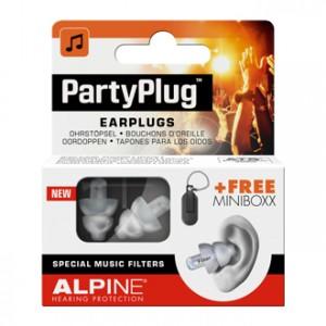 Alpine Hearing Protection Party Plug Bouchons d'Oreille pour les soirées musicales ou les concerts