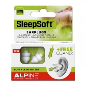 Alpine Hearing Protection SleepSoft Bouchons d'Oreille pour dormir, pour bloquer le ronflement
