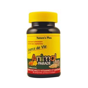 Animal Parade Complexe Multi-Vitaminés et Minéraux - Goût Orange 60 Comprimés