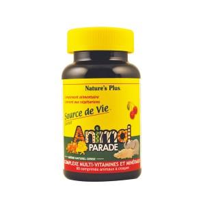 Animal Parade Complexe Multi-Vitaminés et Minéraux - Goût Cerise 60 Comprimés