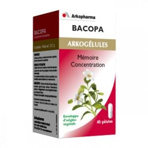 Arkopharma Arkogélules - Bacopa 45 Gélules Mémoire et concentration