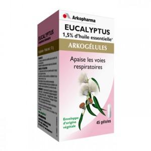 Arkopharma Arkogélules Eucalyptus 45 Gélules Apaise les voies respiratoires 1,5% d'huile essentielle