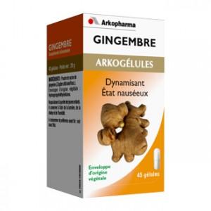 Arkopharma Arkogélules - Gingembre 45 gélules Energie et mémoire Tonus et vitalité Dynamisant Etat nauséeux