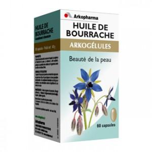 Arkopharma Arkogélules - Huile de Bourrache 60 Gélules Soin de la peau Jeunesse et éclat de la peau