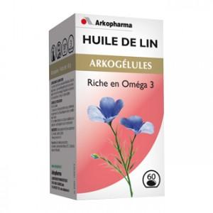 Arkopharma Arkogélules - Huile de Lin 45 Gélules Riche en oméga 3