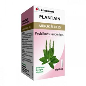 Arkopharma Arkogélules - Plantain 45 Gélules Aide à diminuer les problèmes saisonniers Gênes respiratoires