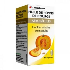 Arkopharma Arkogélules - Huile de Pépins de Courge 60 Capsules Confort urinaire au masculin